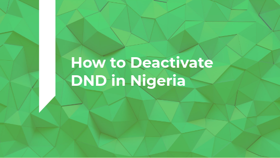 How to Deactivate DND in Nigeria
