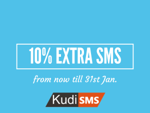 Get 10% Extra SMS units on Kudisms.net