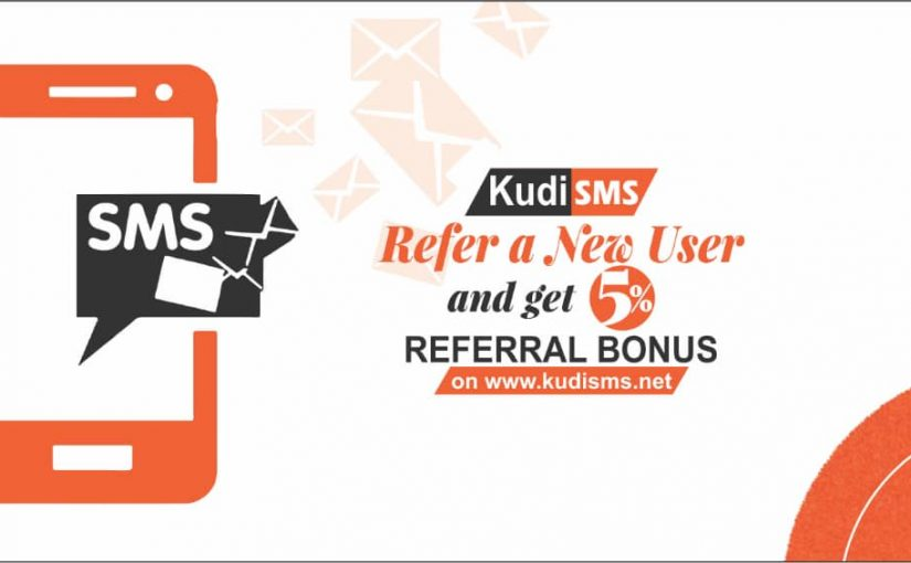KudiSMS REFERRAL SYSTEM: Get 5% anytime the person you refer buys SMS.
